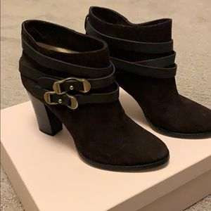 Jimmy Choo Melba Chocolate Suede Bootie Size 8